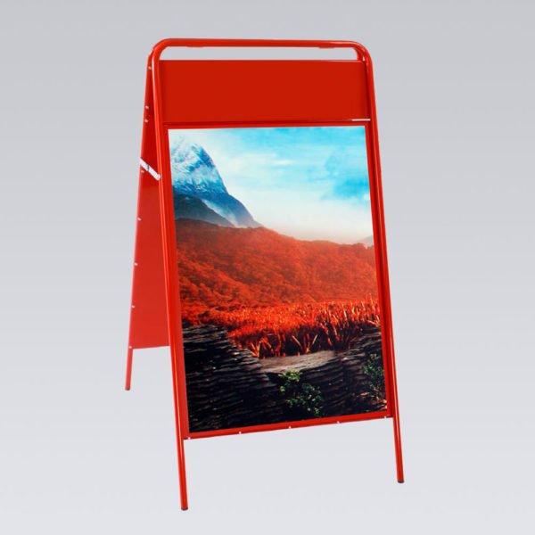 Kundenstopper Magnet Rot